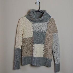 Sundance Westwind Turtleneck Patchwork Sweater